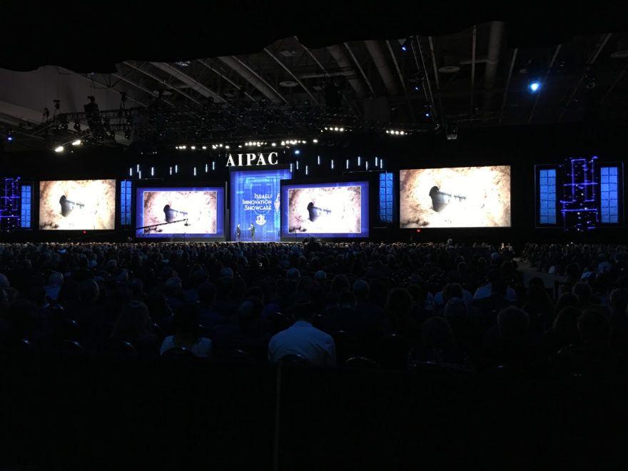 Los activistas de AIPAC son informados sobre los esfuerzos israelíes para combatir los túneles del terror desde la Franja de Gaza hacia Israel el 4 de marzo de 2018. (Ron Kampeas)