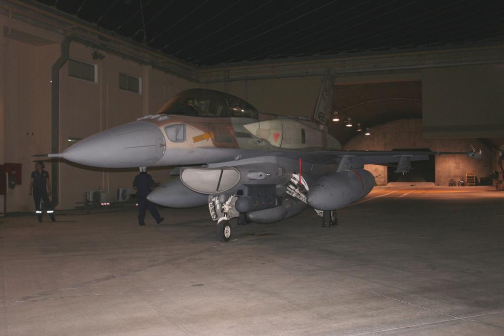 Un avión de combate F-16I del 119° Escuadrón de la Fuerza Aérea Israelí se prepara para despegar durante una operación para bombardear un reactor nuclear sirio en Deir Ezzor el 5 de septiembre de 2007. (Fuerzas de Defensa de Israel)