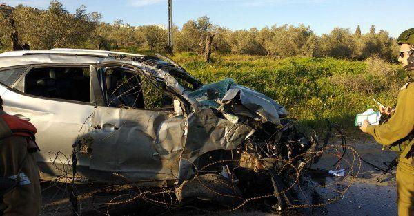 Vehículo que utilizó el terrorista. (Foto: Yoav Etiel)