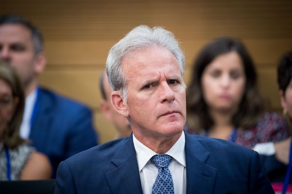 Viceministro Michael Oren en la Knesset, 27 de junio de 2017. (Yonatán Sindel)
