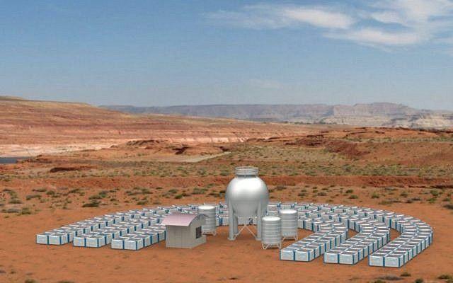 Foto que muestra el proyecto piloto propuesto por Tethys Solar Desalinization (Cortesía)