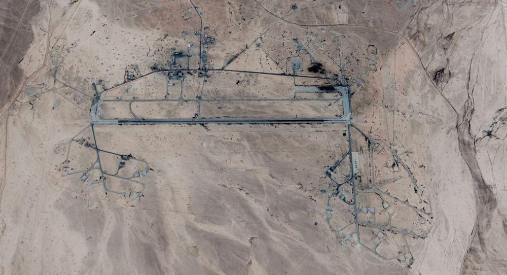 La Base T-4, cerca de Palmyra, que fue atacada.(Crédito: Google / Digital Globe)