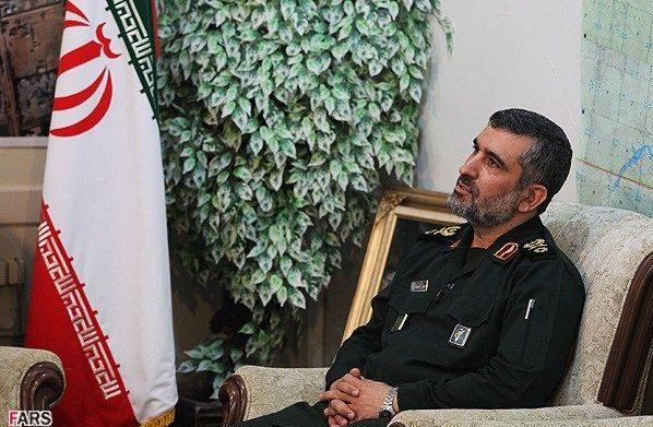 El jefe de la fuerza aérea del Cuerpo de la Guardia Revolucionaria iraní Brig.Gen. Haji Zada.(Fars News)