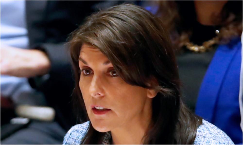 """Haley: """"EE.UU actuará así el Consejo de la ONU actúe o no"""""""