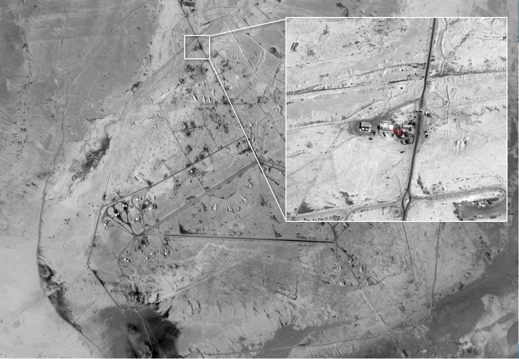 Identificación de un equipo iraní de UAV en el aeropuerto de Sikkel en Siria