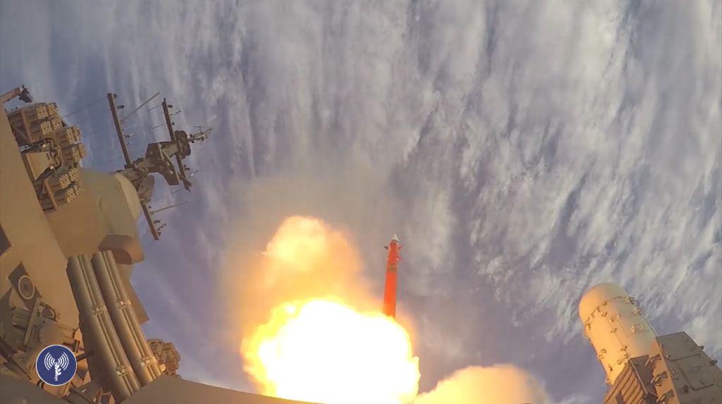 Ilustrativo: La Marina de Israel lanza su nuevo sistema de defensa antimisiles 'Barak 8' el 26 de noviembre de 2015. (captura de pantalla: Fuerzas de Defensa de Israel)