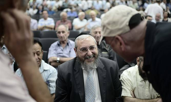 Rabino Amsalem en la conferencia del partido Likud | Flash 90