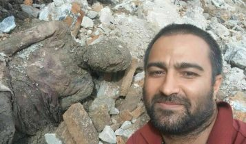 Unaselfieque se difundió en línea fue explicada en el sitio web de noticias Roozarooz como tomada por el conductor de un camión excavador.