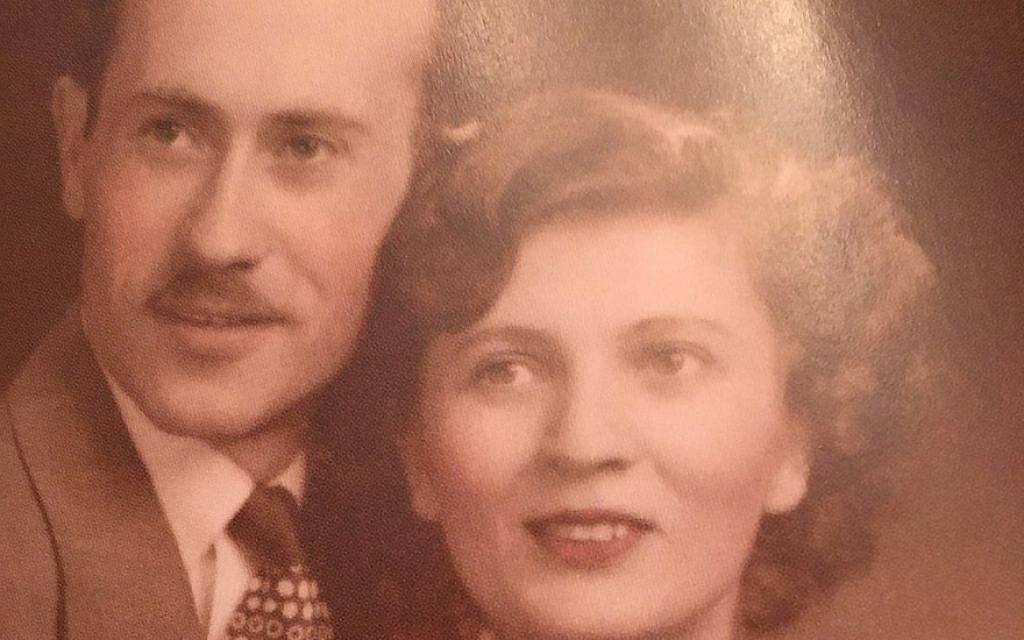 Sandor y Margit Kirsche en 1947. (Cortesía de Margit Kirsche / vía JTA)