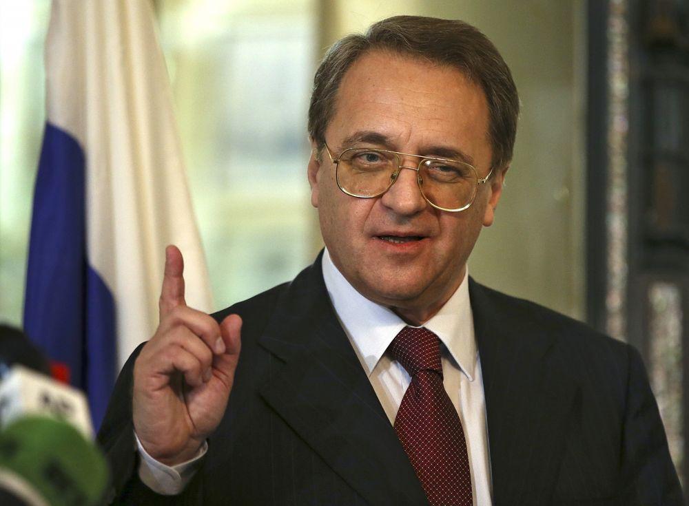 El viceministro de Asuntos Exteriores de Rusia, Mikhail Bogdanov, en Beirut, Líbano, 5 de diciembre de 2014. (AP Photo / Hussein Malla)