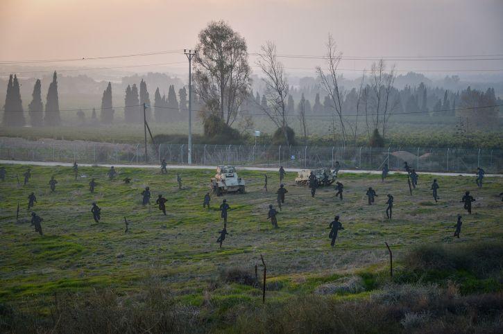 Un sitio recreando la batalla de la Guerra de la Independencia de 1948 entre los combatientes del Kibbutz Yad Mordechai y el ejército egipcio en el sur de Israel el 18 de enero de 2017. (Flash 90)