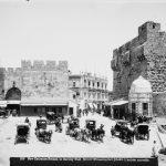 Puerta de Jaffa sin la Torre del Reloj que fue retirada por los británicos 1898 1914