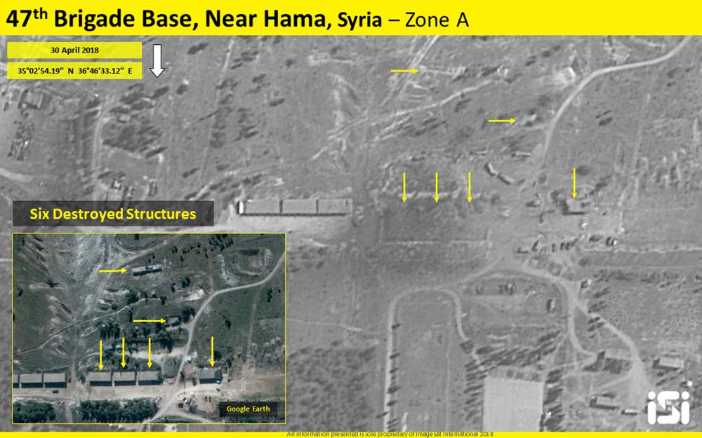 Satélite capta destrucción en base de Irán en Siria después de presunto ataque israelí