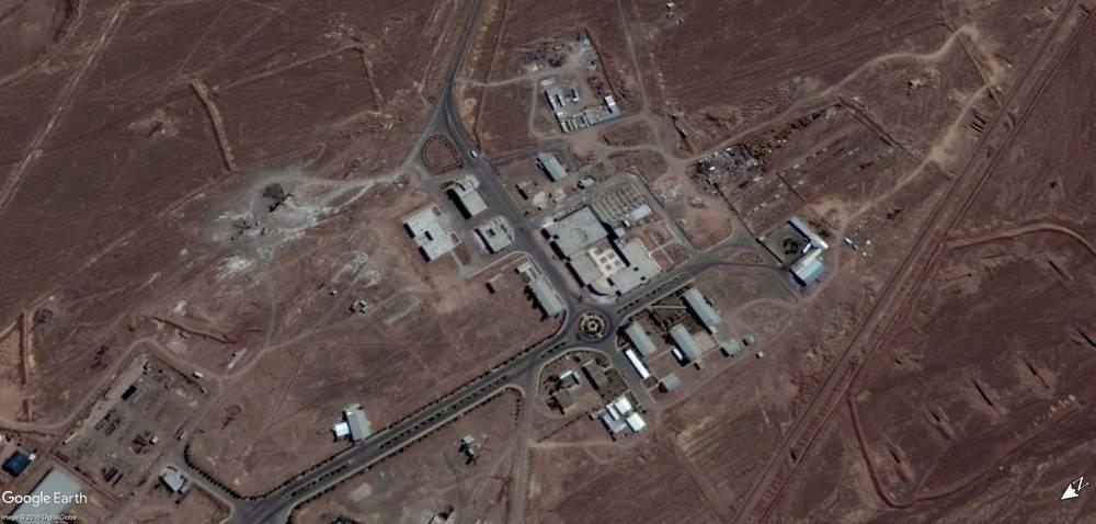 Una imagen de satélite del 15 de septiembre de 2017 de la instalación nuclear de Fordo en Irán.(Google Earth)