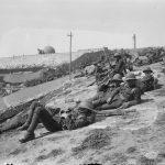 soldados británicos en laderas de la Ciudad de David