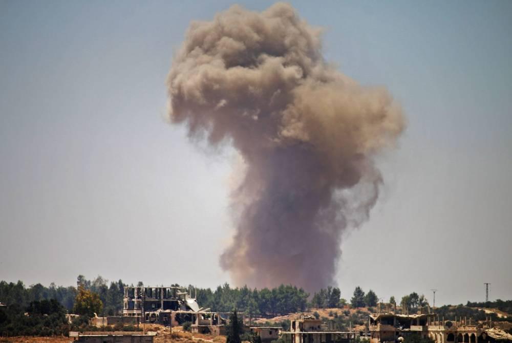 Un ataque aéreo de régimen en la región siria de Dara'a el martes 26 de junio de 2018MOHAMAD ABAZEED (AFP)