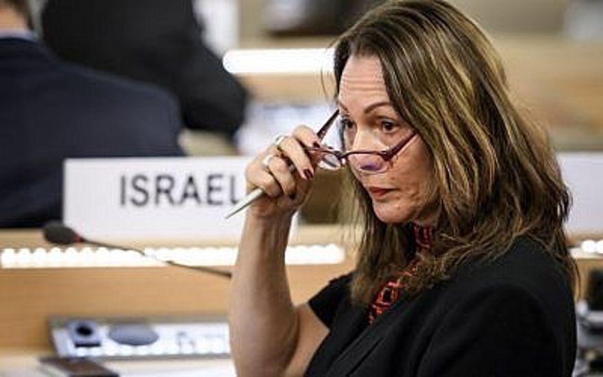 O embaixador de Israel, Aviva Raz Shechter