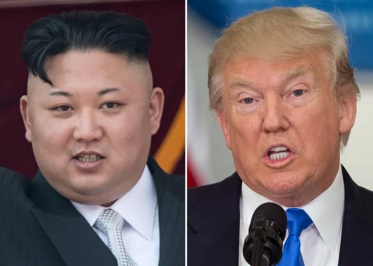 El líder norcoreano Kim Jong-un (izquierda) y el presidente estadounidense Donald Trump (derecha).(AFP / Saul Loeb y Ed Jones)