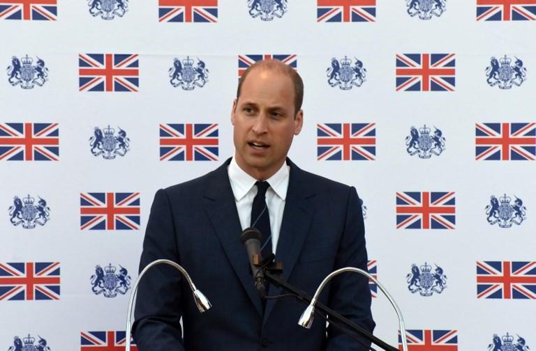 El Príncipe William de Bretaña pronuncia un discurso durante una recepción en el Consulado británico en Jerusalem el 27 de junio de 2018. (AFP Photo / Pool / Debbie Hill)