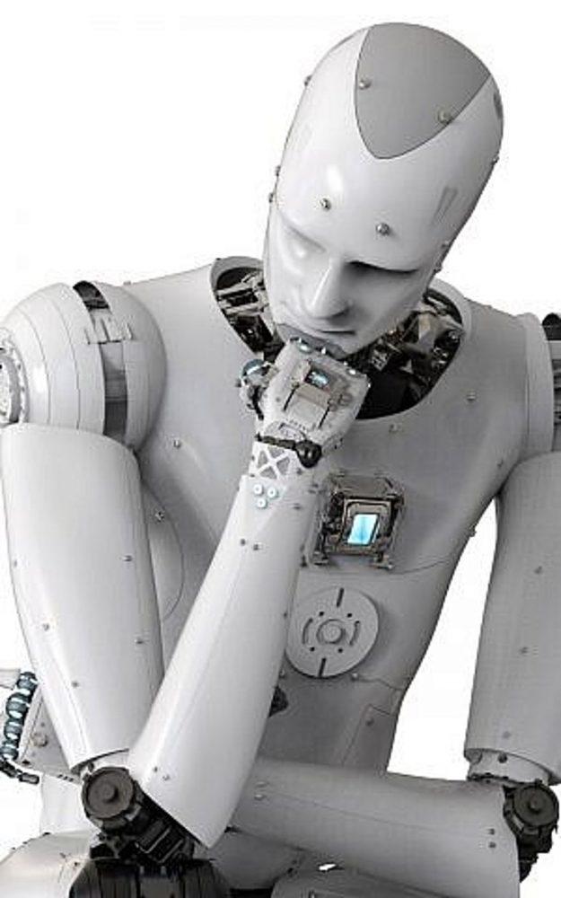 Un robot pensante