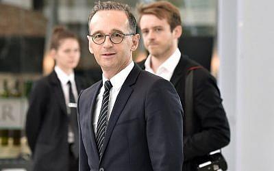 El Ministro de Asuntos Exteriores de Alemania, Heiko Maas, llega a la reunión ministerial del Plan Integral de Acción (JCPOA) sobre el acuerdo nuclear de Irán el 6 de julio de 2018 en Viena, Austria. (AFP / APA / Hans Punz)