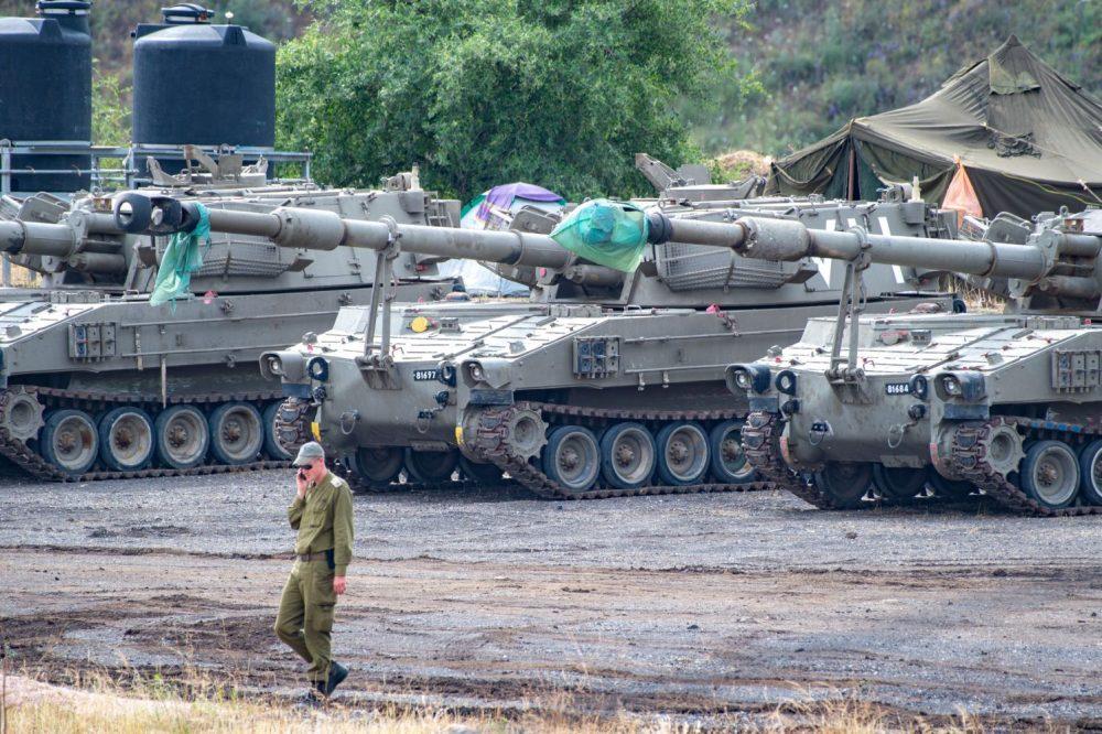Fuerzas militares israelíes en los Altos del Golán, mayo de 2018. (Gil Eliyahu)