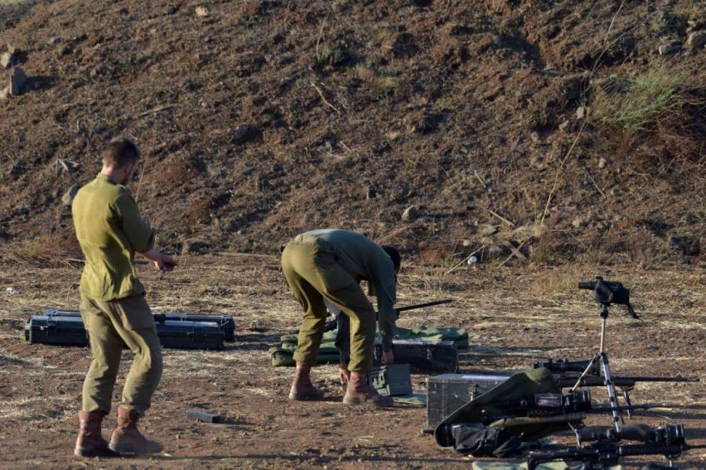 Soldados israelíes cerca de la frontera con Siria, 20 de julio de 2018. Crédito: Gil Eliahu