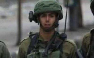 Una foto sin fecha del sargento Aviv Levi de la Brigada Givati de las FDI, que murió por disparos de francotiradores desde Gaza el 20 de julio de 2018. (Cortesía)