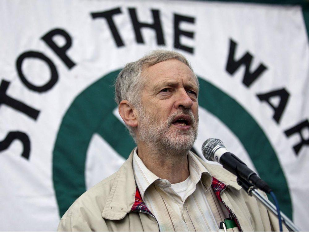 Jeremy Corbyn en una manifestación de Stop The War en 2012.