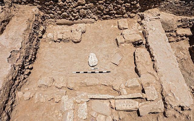 La sala de juegos en la excavación del norte de Gedera. (Assaf Peretz, Autoridad de Antigüedades de Israel)