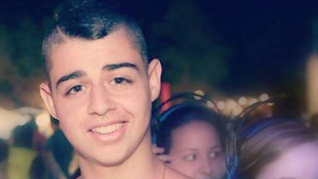 Eden Atias, de 19 años, que dormía en un autobús israelí cuando su asesino palestino de 16 años lo atacó.