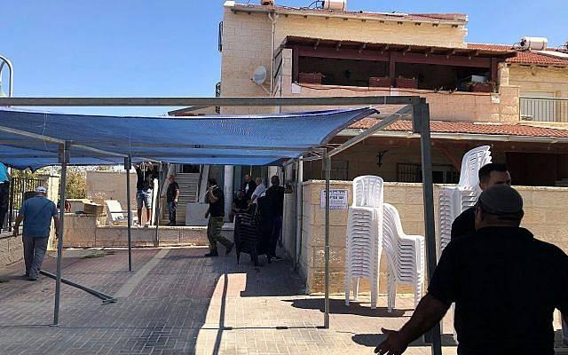 El hogar de Yaakov Ovadia, cuyo hijo Yotam fue asesinado en un ataque terrorista en el poblado judío de Adam el 26 de julio de 2018 (Jacob Magid)