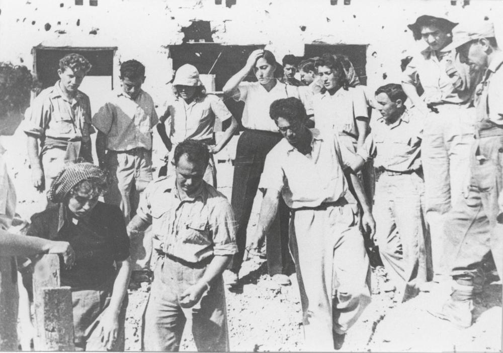 Evacuación de mujeres del Kibbutz Nitzanim, 1948 Archivo de las FDI en el Ministerio de Defensa