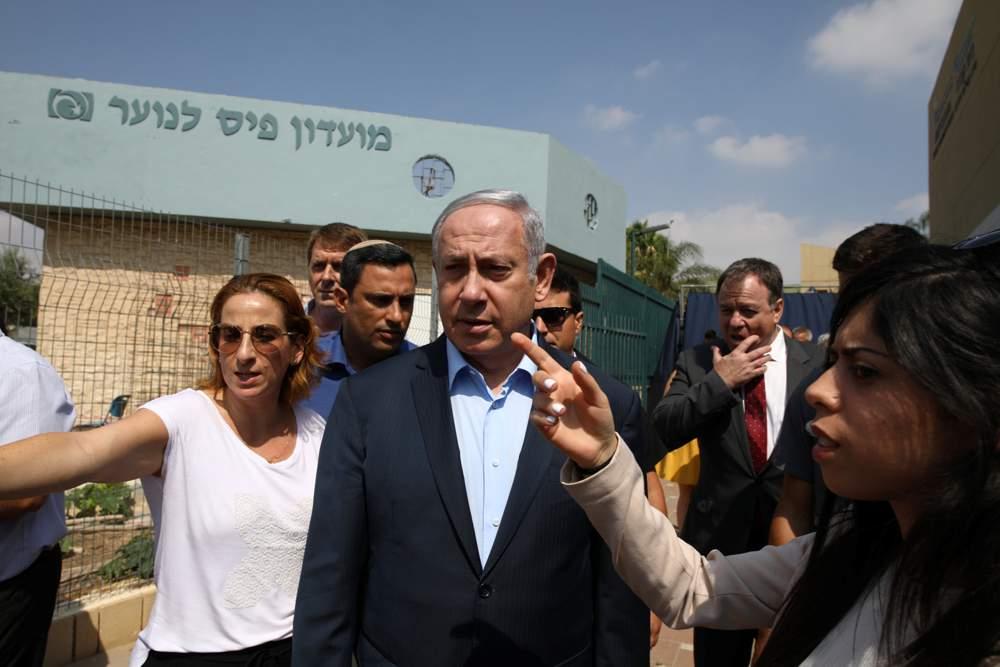 Netanyahu visitando Sderot, 16 de julio de 2018. Crédito: Ilan Assayag