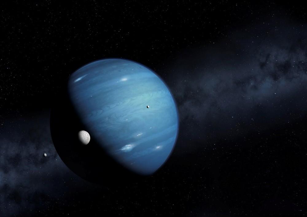 Planeta 9 es un planeta masivo hipotético, propuesto por primera vez en 2014, que se especula que orbita muy lejos en el sistema solar, en octubre de 2016. Crédito: MARK GARLICK / Science Photo Lib