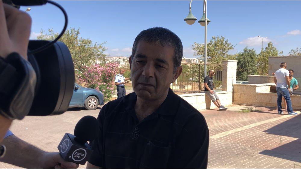 Yaakov Ovadia, cuyo hijo Yotam fue asesinado en un ataque terrorista en el poblado judío de Adam el 26 de julio de 2018 (Jacob Magid)
