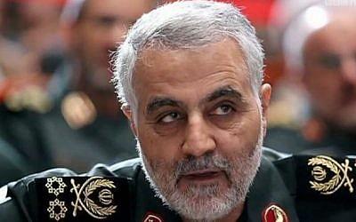 Comandante de la Guardia Revolucionaria Iraní al-Quds, Mayor General Qassem Soleimani. (Captura de pantalla de YouTube)