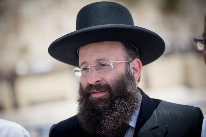 Rabino del Muro Occidental Shmuel Rabinowitz.21 de mayo de 2017. (Yonatan Sindel / Flash 90)