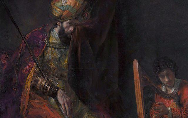 Rembrandt, c. 1650: Saúl y David (dominio público)