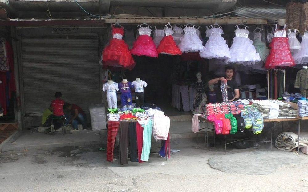 El principal lastre del mercado en Qamishli, Siria. (Ziv Genesove / Times of Israel)