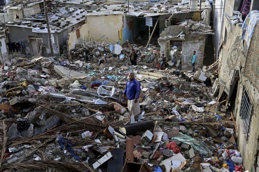 Destrucción en Gaza después de los ataques aéreos del Borde Protector (Foto: AP)