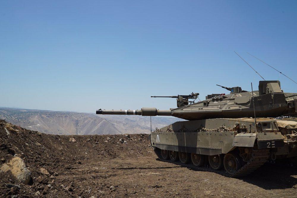 Un tanque de las FDI desplegado en los Altos del Golán, cerca de la frontera con Siria, el 1 de julio de 2018. (Fuerzas de Defensa de Israel)