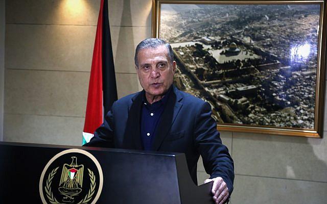 Nabil Abu Rudeineh, portavoz del presidente de la AP Mahmoud Abbas. (Flash90)