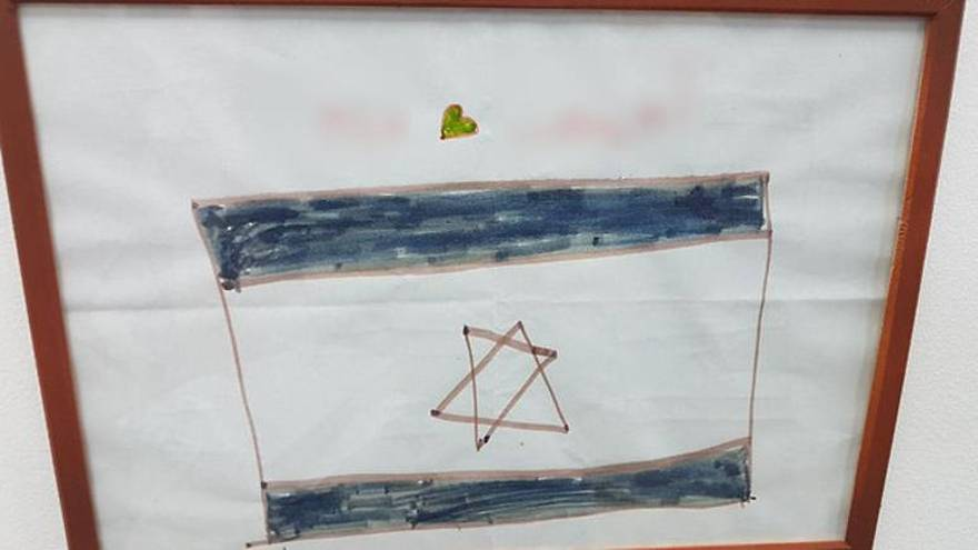 Boceto de la bandera de Israel se convierte en símbolo de gratitud de niña siria