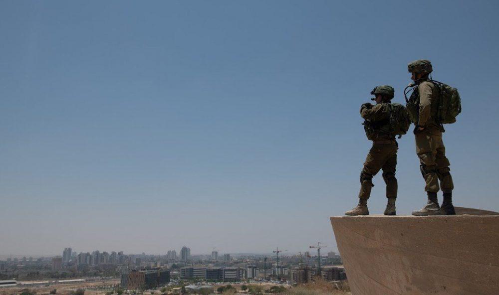 Los soldados de las FDI toman parte en un ejercicio que simula la guerra en la Franja de Gaza en julio de 2018. (Fuerzas de Defensa de Israel)