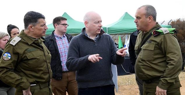 Jason Greenblatt durante una sesión de información cerca de Gaza (Foto: COGAT)