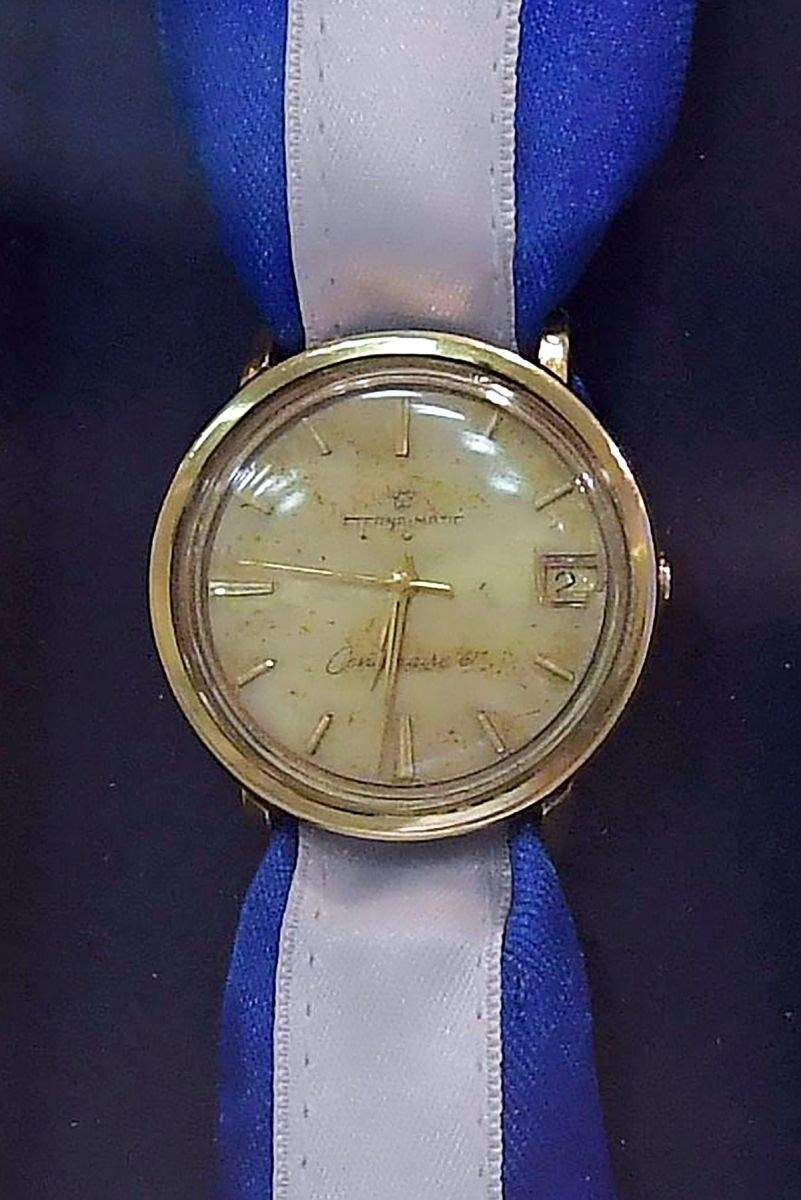 El reloj de Eli Cohenquedó en manos de alguien que participó de su juicio. En los 50 años que pasaron perdió la correa.(Amos Ben Gershom/Laam/Gobierno de Israel)