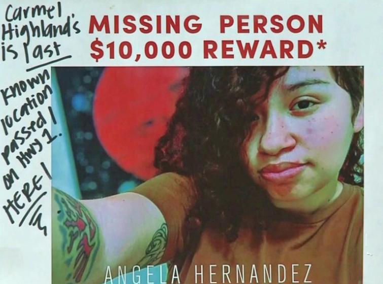 Con este mensaje la familia de Angela Hernández trató desesperadamente de encontrarla mientras estaba en el fondo del acantilado.