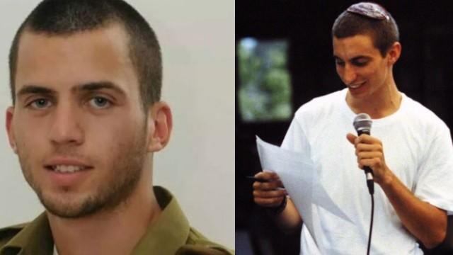 Soldados de las FDI Oron Shaul (izquierda) y Hadar Goldin (derecha). (Flash90)