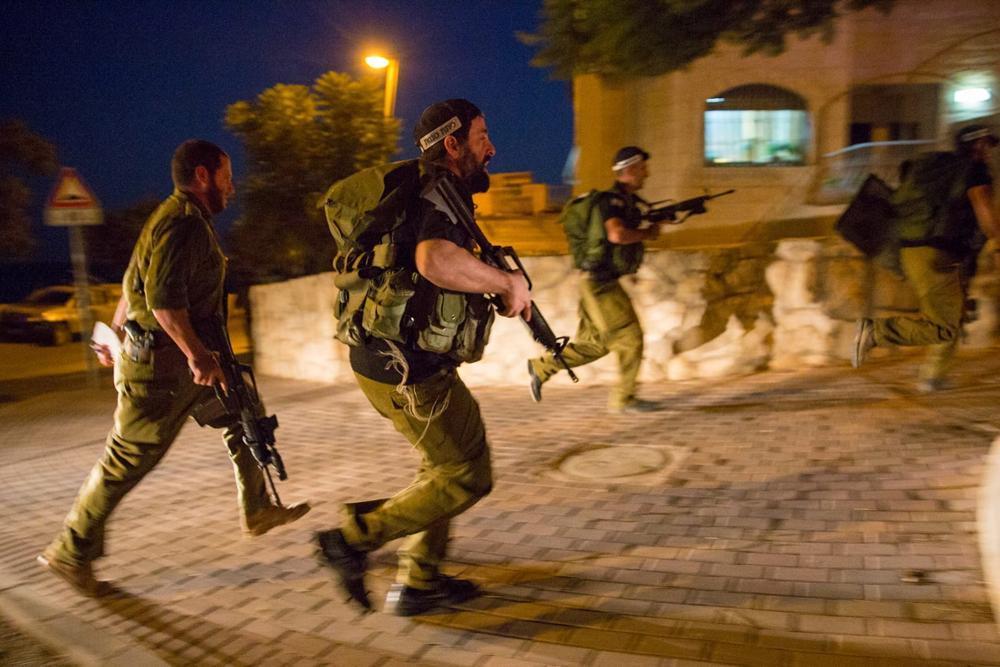 Tropas de las FDI realizan búsqueda en el poblado judío de Adam (Foto: TPS)